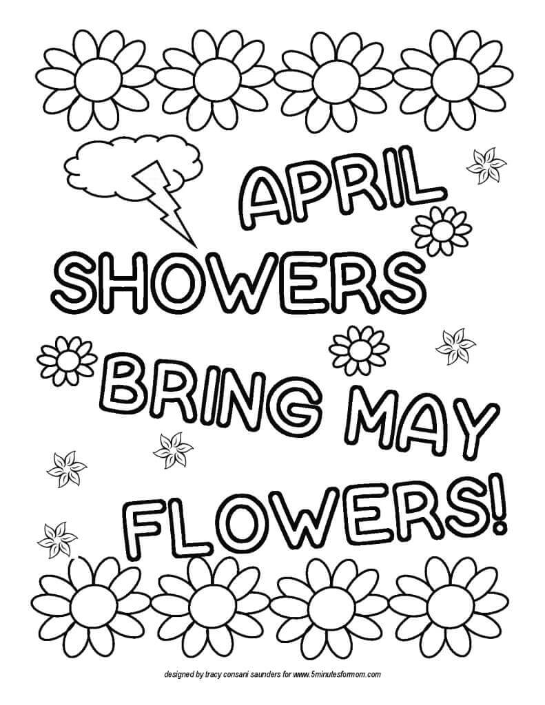 free april coloring pages - photo#2