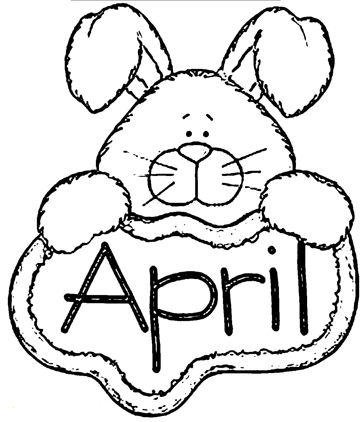 free april coloring pages - photo#5