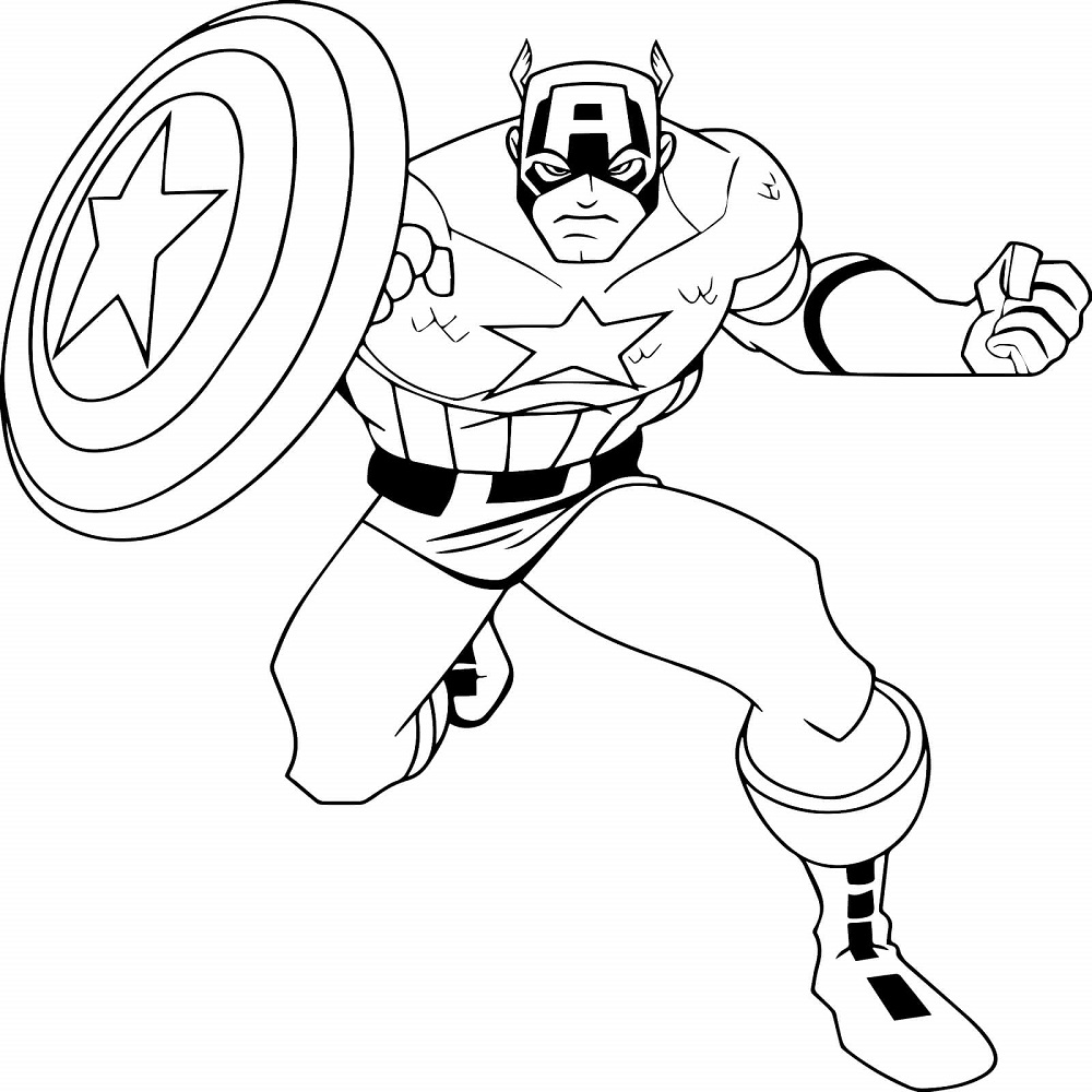 Free Captain America Coloring Sheets