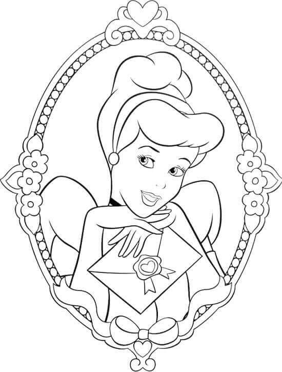 Free Cinderella Coloring Sheets To Print