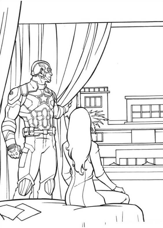 Free Coloring Pages Of Captain America