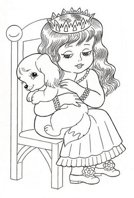 Free Cute Dog Coloring Pages