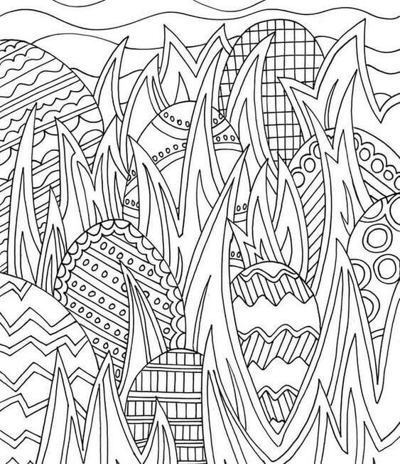 Free Easter Eggs Colouring Pages To Print