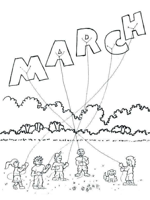march wind coloring pages - photo#5