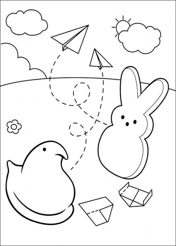 Free Peeps Coloring Pages