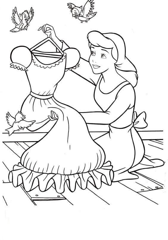 30 Free Printable Cinderella Coloring Pages