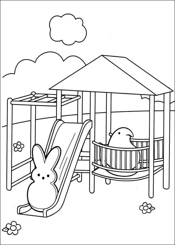 Free Printable Marshallow Peeps Coloring Pages