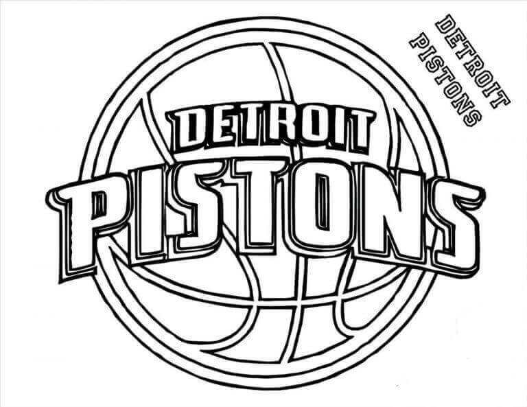 Free Printable NBA Coloring Pages Detroit Pistons
