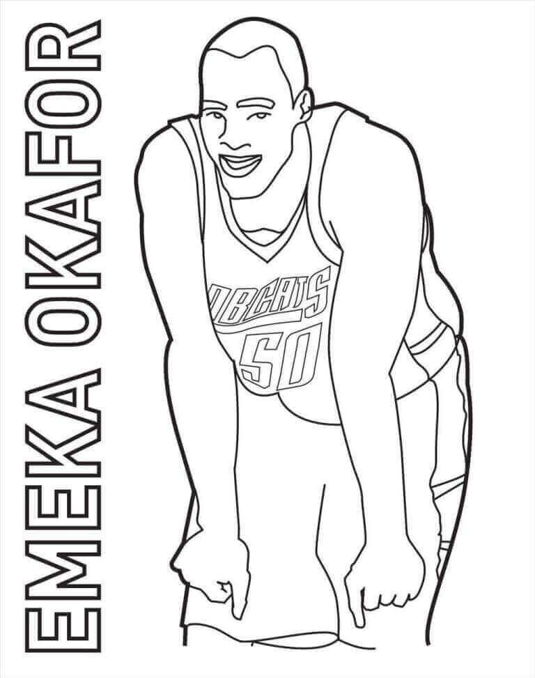 Free Printable NBA Coloring Pages Emeka Okafor