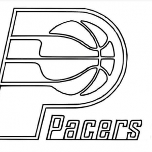 Free Printable NBA Coloring Sheets Indiana Pacers