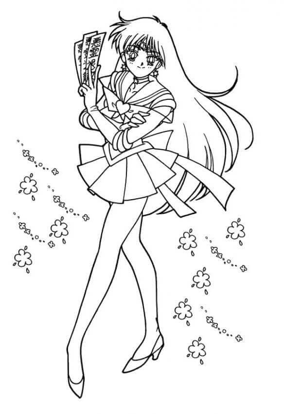 Free Printable Sailor Moon Coloring Pages Sailor Mars