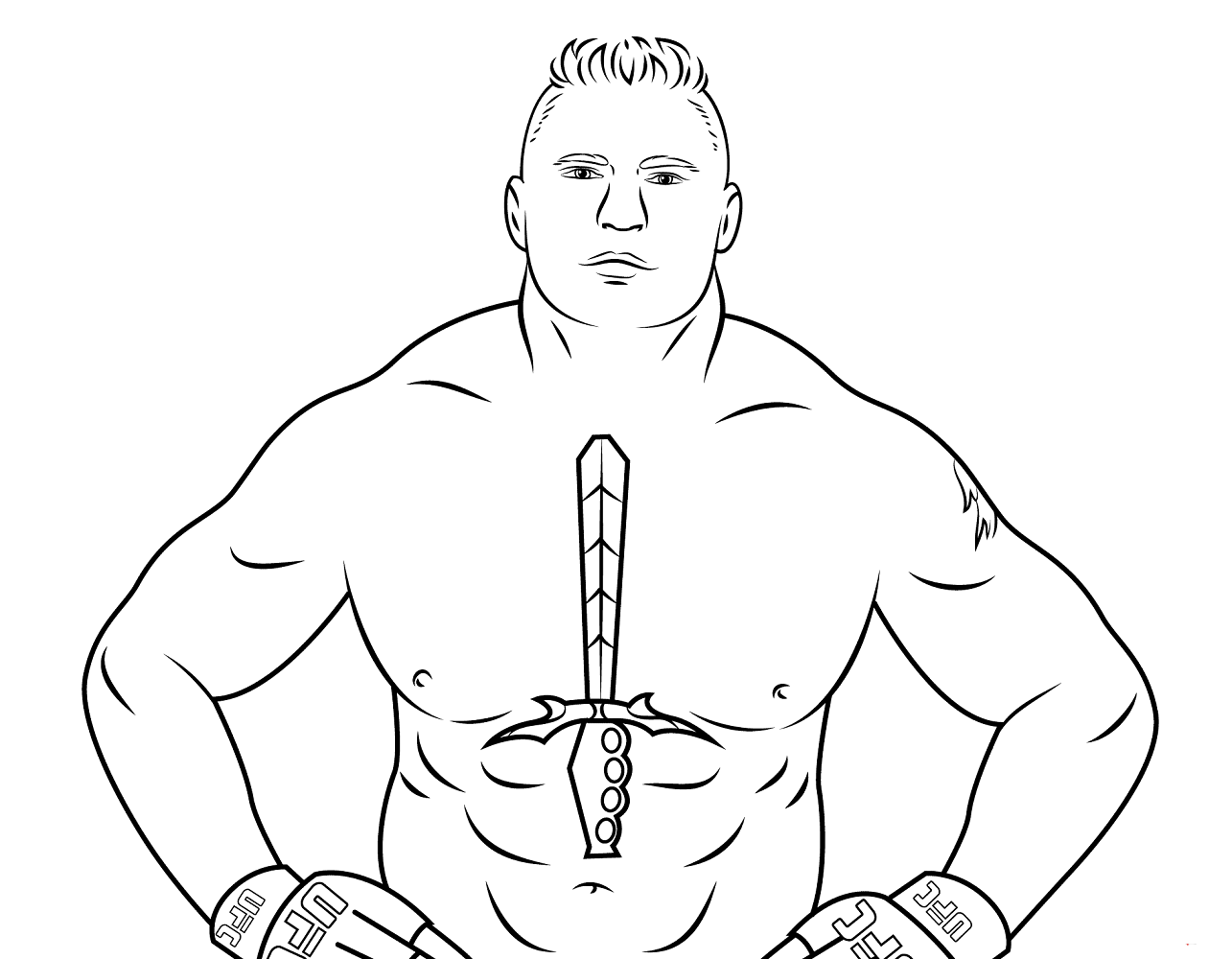 Free Printable WWE Coloring Page Brock Lesnar
