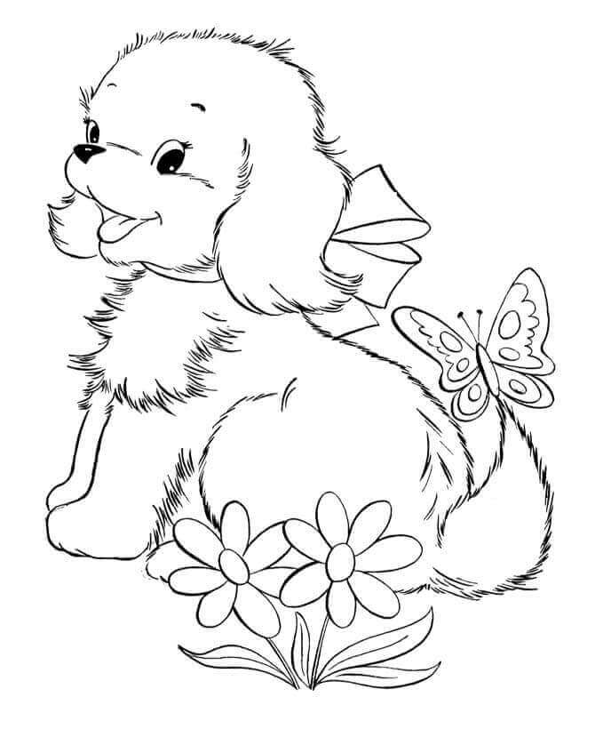 Free Puppies Coloring Pages To Print