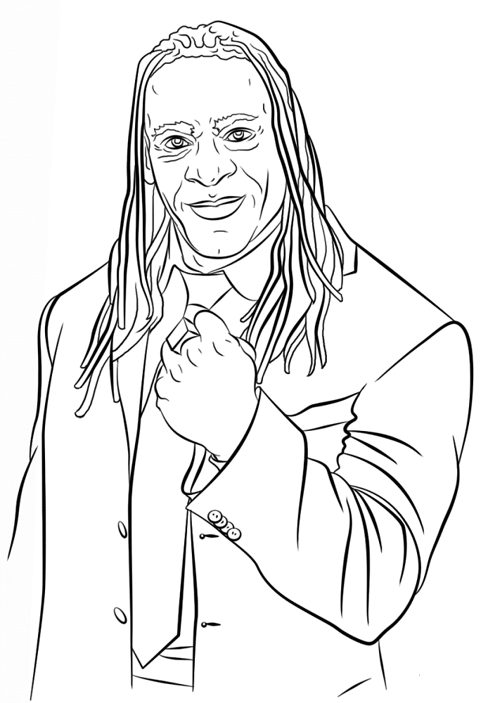 booker t wwe coloring page