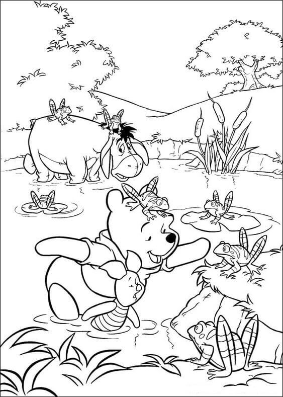 Free Winnie The Pooh Coloring Book