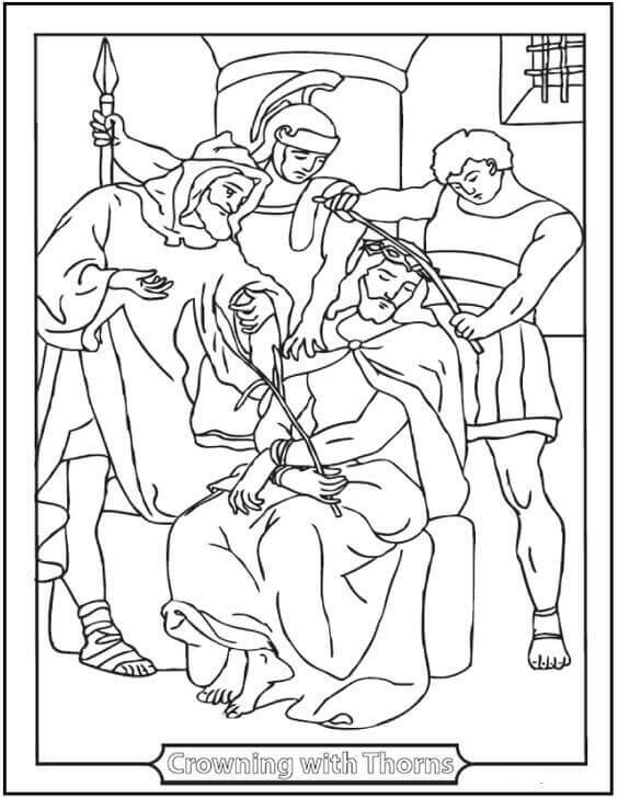 Good Friday Coloring Pages For Preschoolers