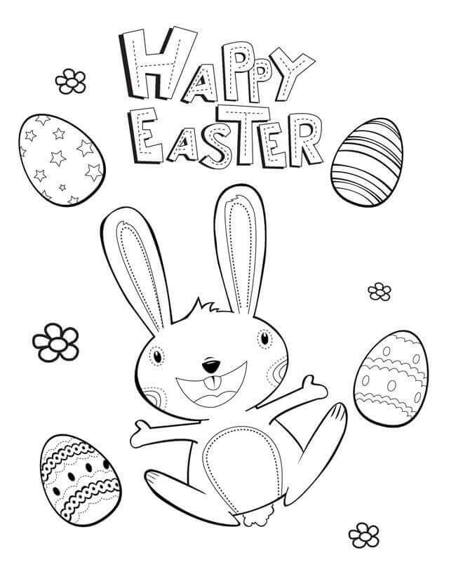Happy Easter Coloring Pages For Preschoolers