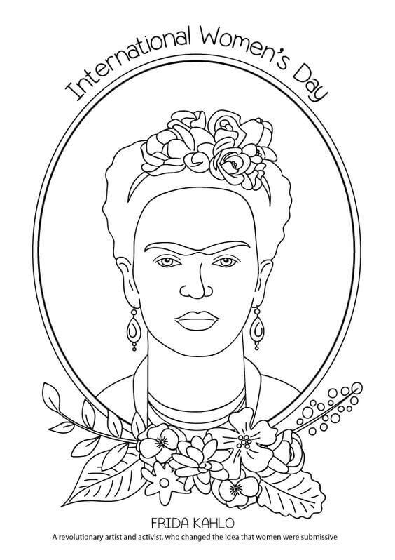 15 Free Printable International Women\'s Day Coloring Pages