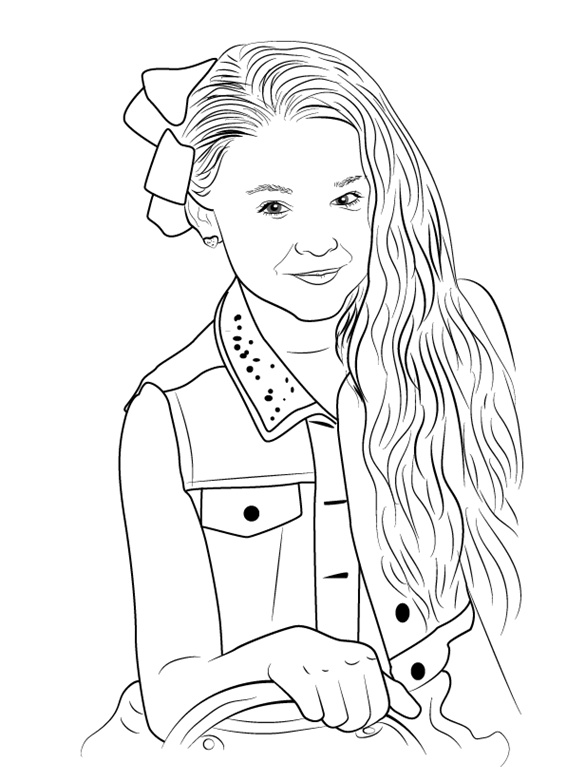 This is a graphic of Adorable Jojo Siwa Coloring Pages Printable