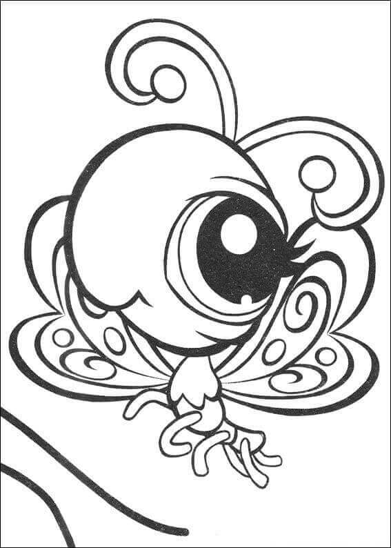 LPS Butterfly Coloring Page