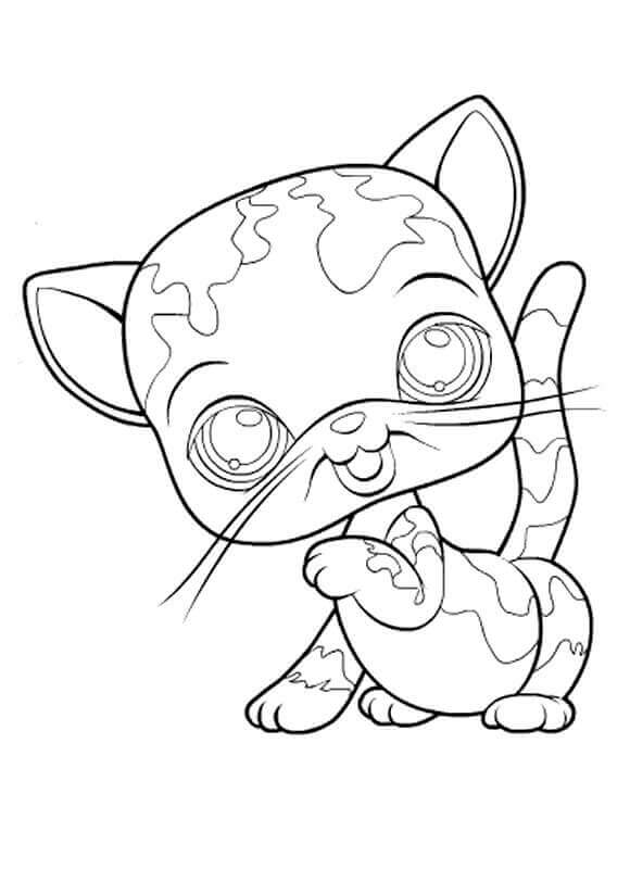 LPS Coloring Pages Free Cat