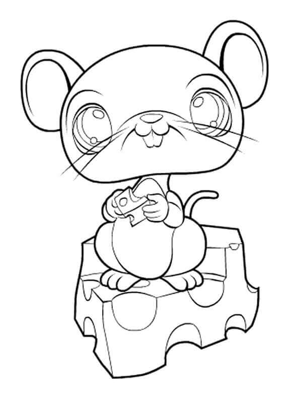 LPS Coloring Pages Mouse