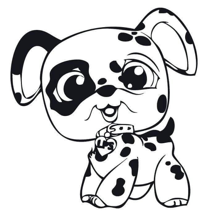 LPS Dalmatian Coloring Page