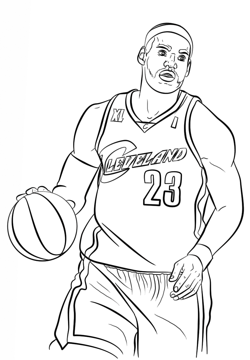 Free printable nba coloring pages national basketball for Free basketball coloring pages
