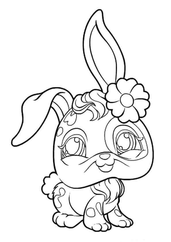 Littlest Pet Shop Coloring Pages Bunny