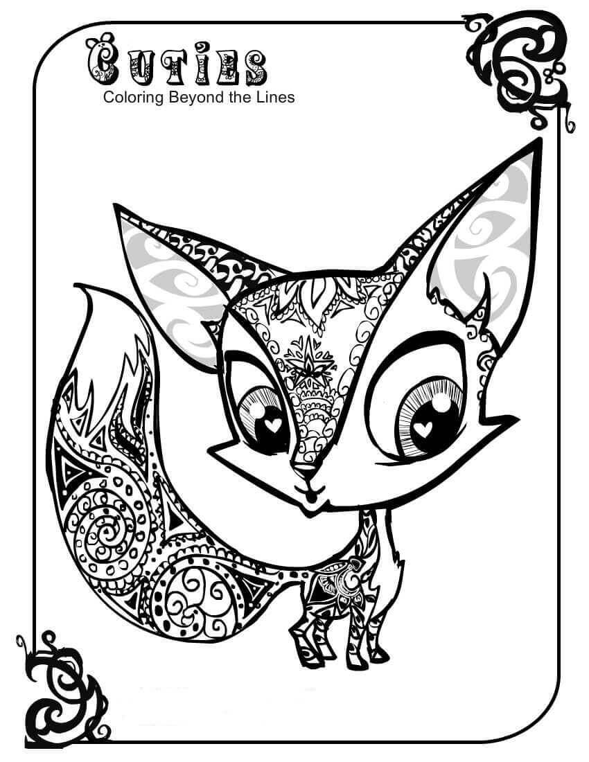 Littlest Pet Shop Coloring Pages Fox