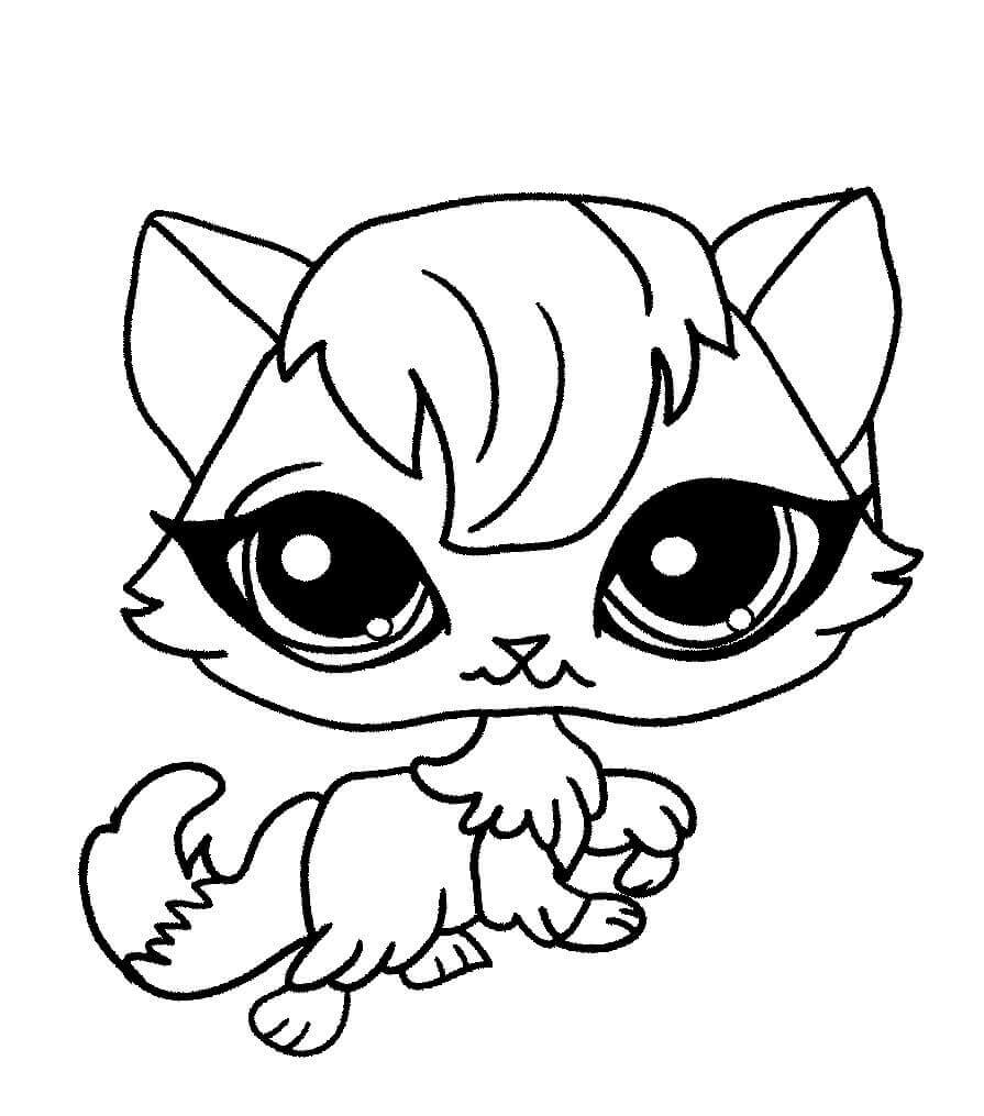 Littlest Pet Shop Coloring Pages Madame Pom