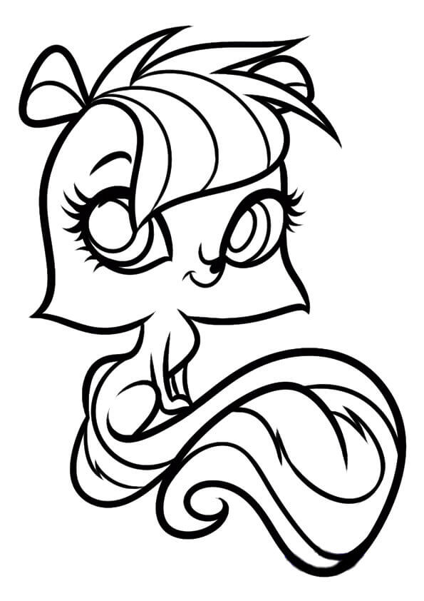 Littlest Pet Shop Coloring Pages Pepper Clark