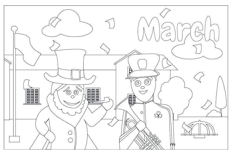 March coloring pages free printable