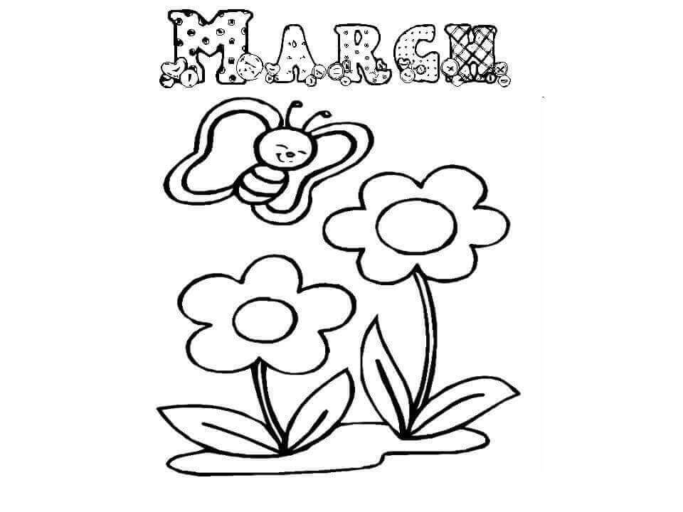 March Coloring Sheets To Print