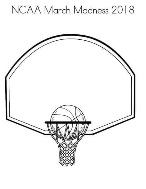 March Madness 2018 Coloring Pages Free