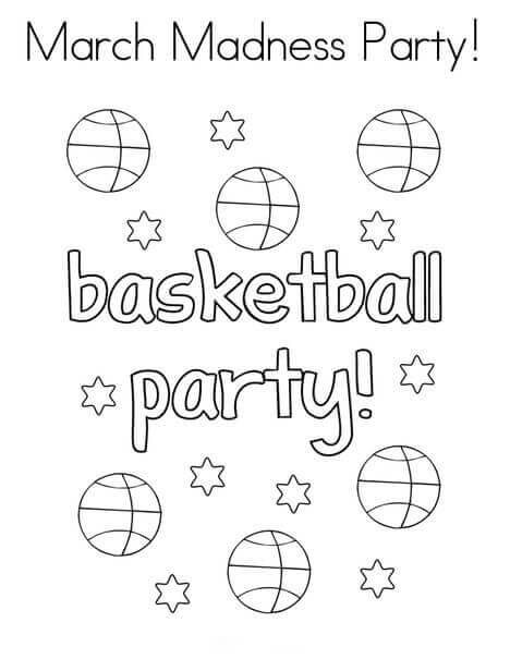March Madness 2018 Coloring Pages