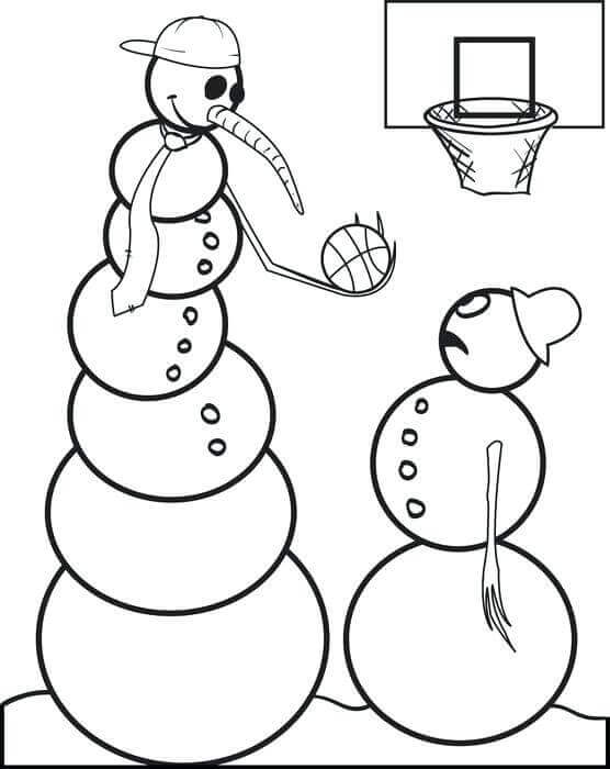 March Madness Basketball Coloring Pages Free Printable