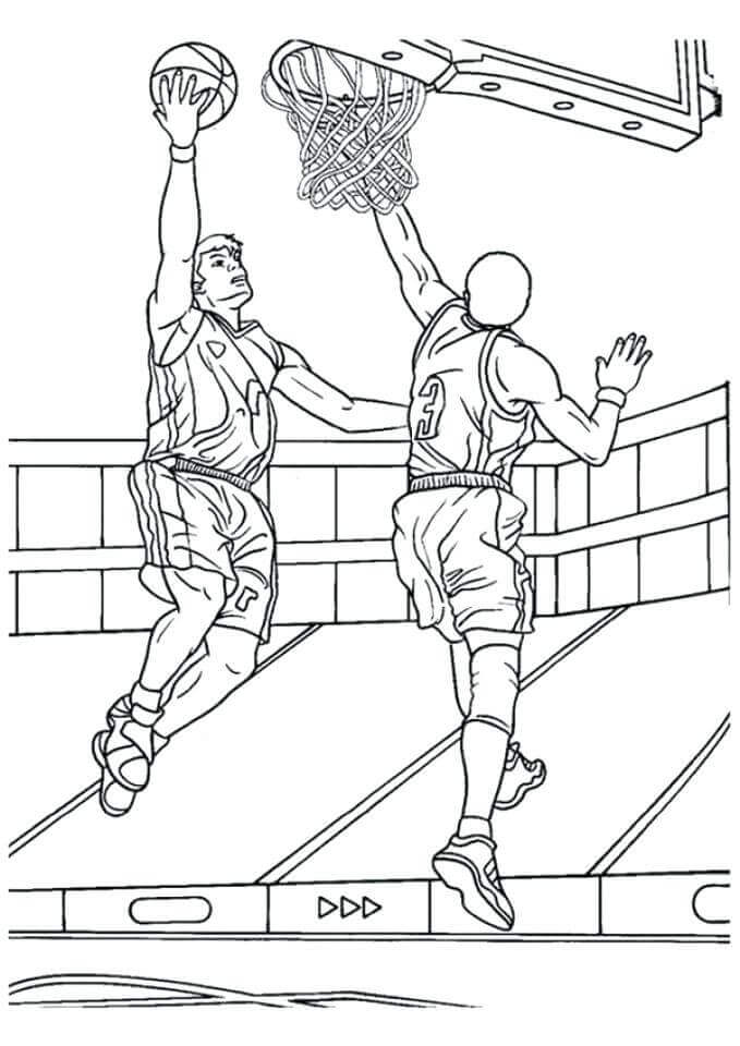 March Madness Basketball Coloring Pages To Print
