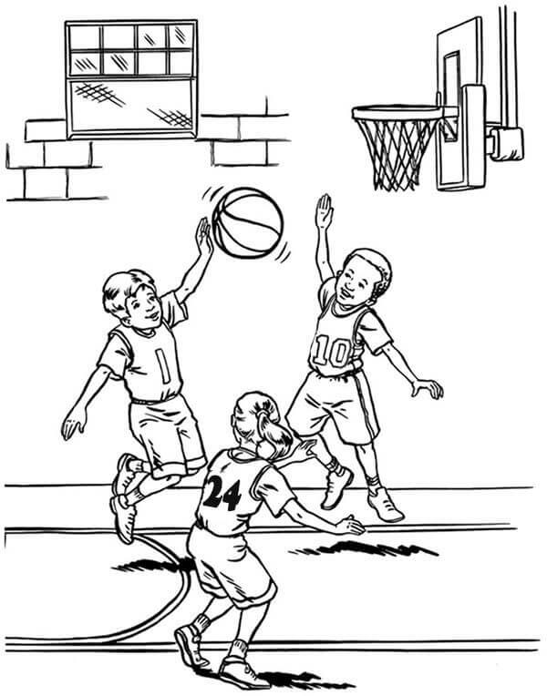 March Madness Basketball Coloring Pages