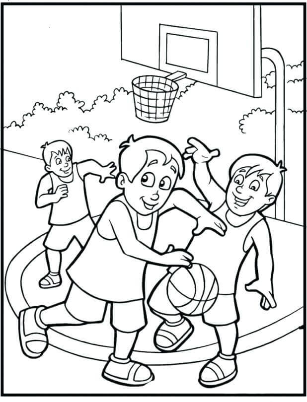 March Madness Coloring Pages Free Printable
