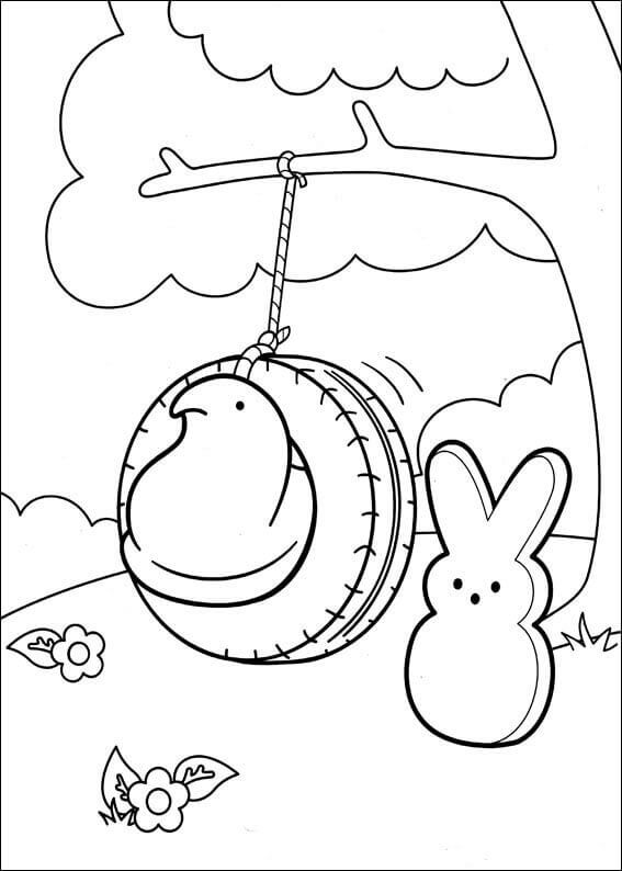 Marshallow Peeps Chic And Bunnies Coloring Pages