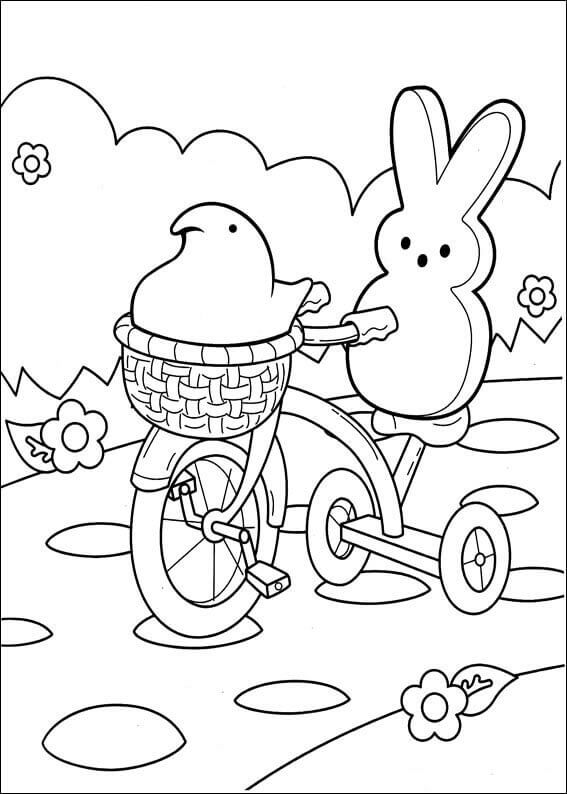 peep coloring pages - free printable peeps coloring pages