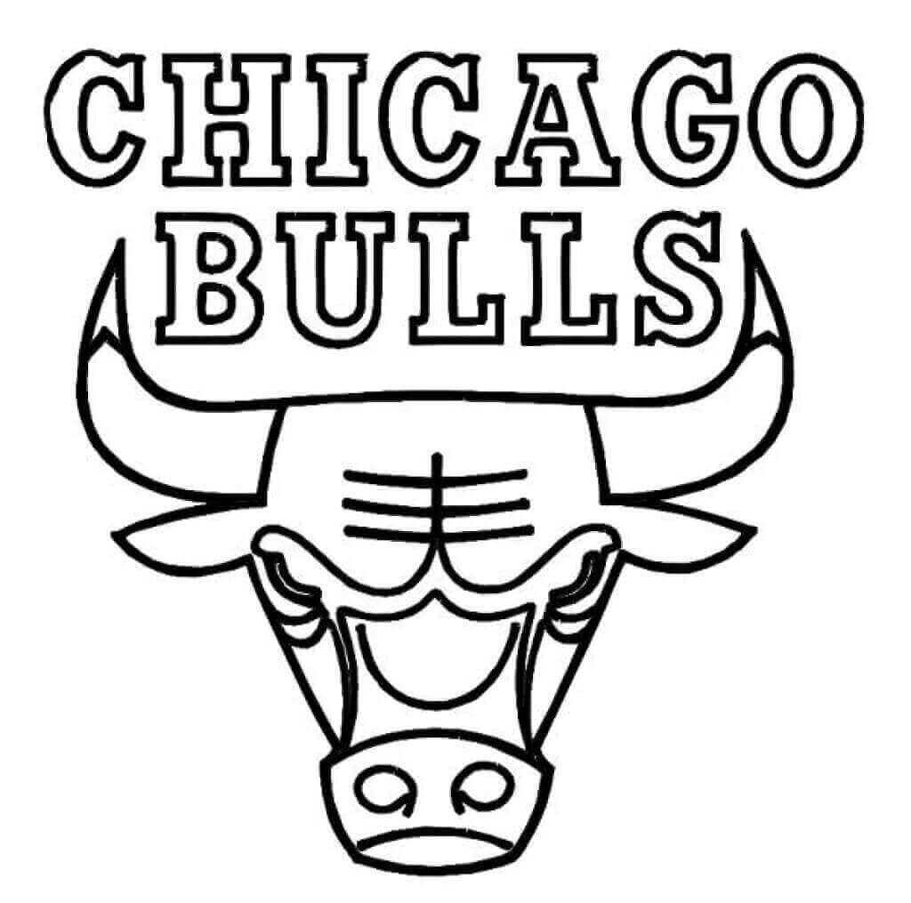 NBA Coloring Pages Chicago Bulls