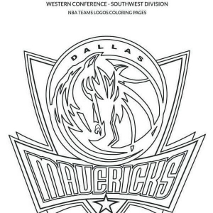 NBA Coloring Pages Dallas Mavericks