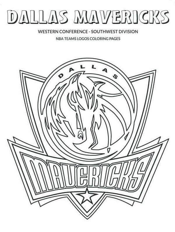 NBA Coloring Pages Dallas Mavericks