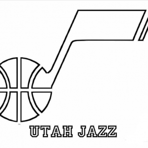 NBA Coloring Pages Dallas Utah Jazz