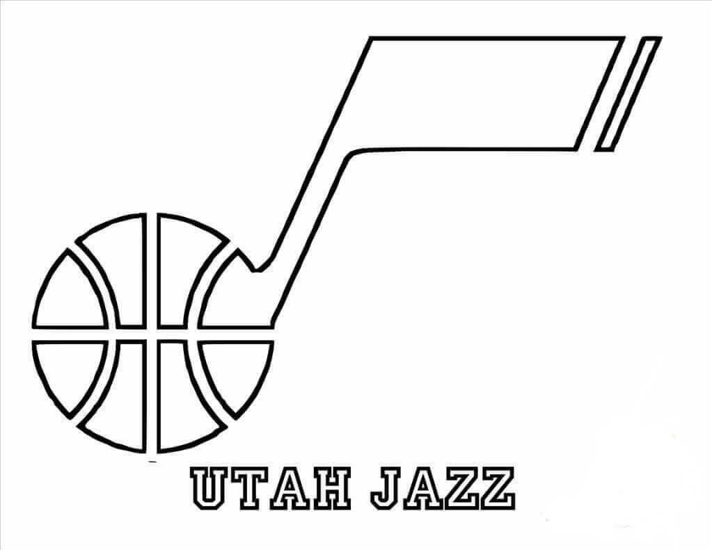 NBA Coloring Pages Dallas Utah Jazz