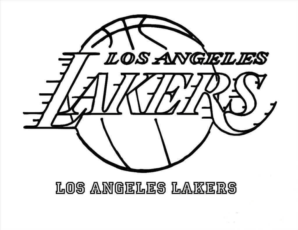 NBA Coloring Pages Los Angeles Lakers