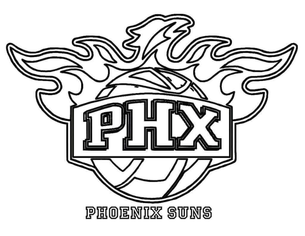 NBA Coloring Pages Phoenix Suns