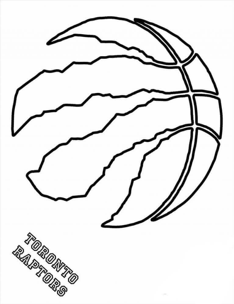 NBA Coloring Pages Toronto Raptors